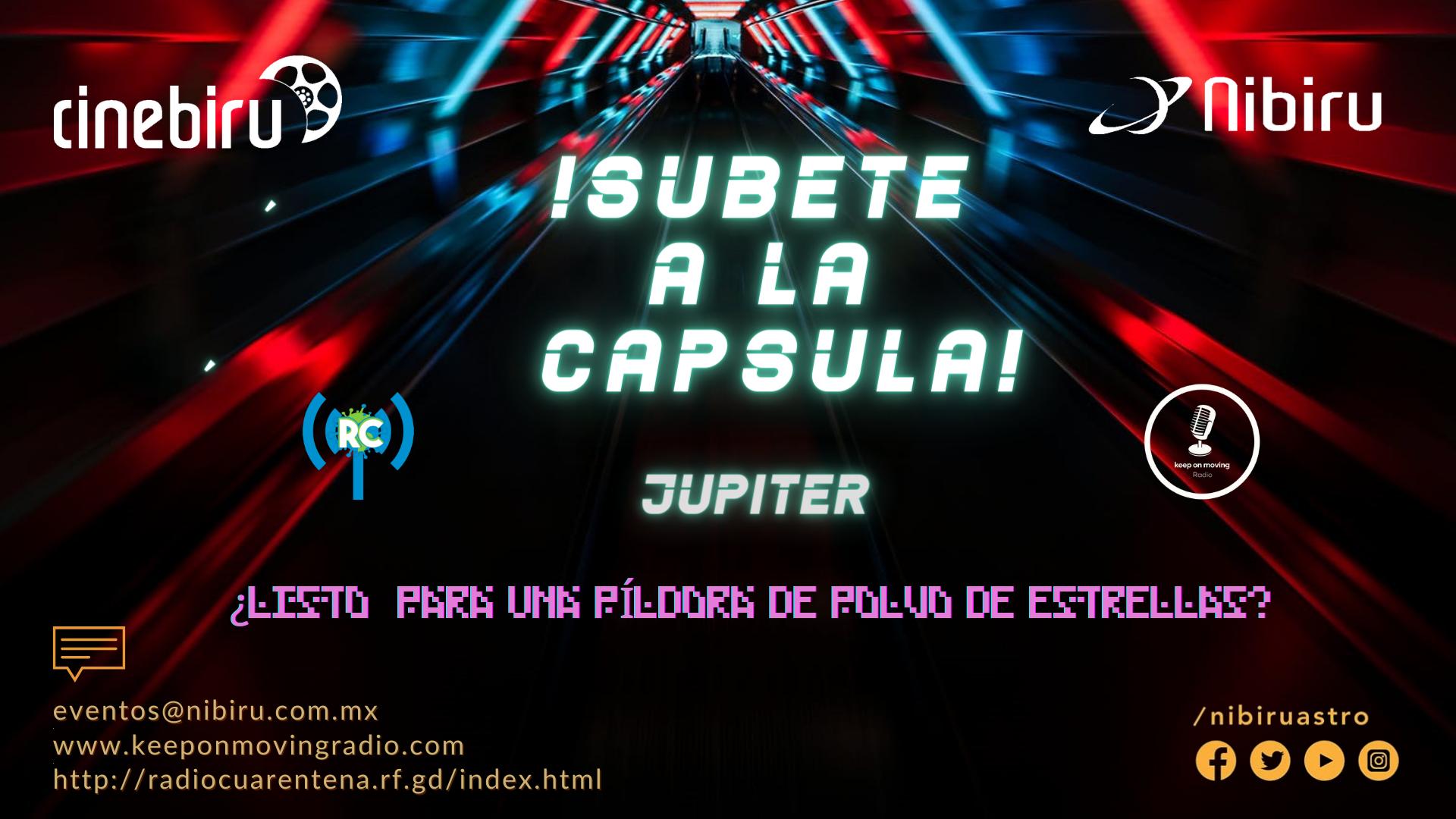 ¡Súbete a la cápsula! – Júpiter
