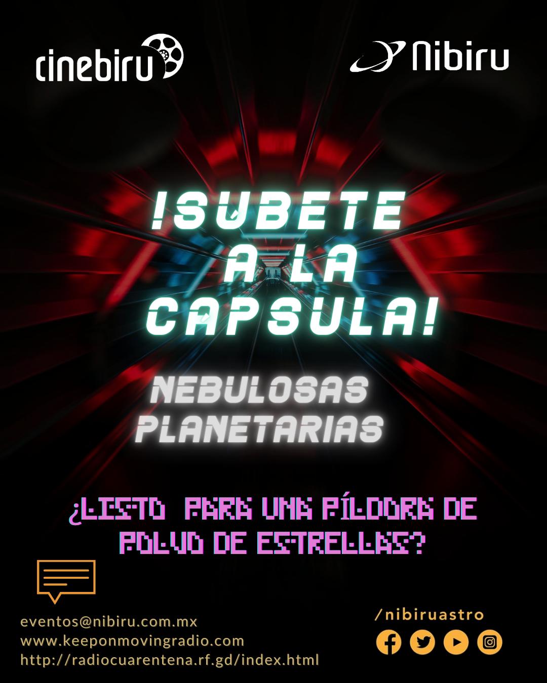 ¡Súbete a la cápsula! – Nebulosas Planetarias.